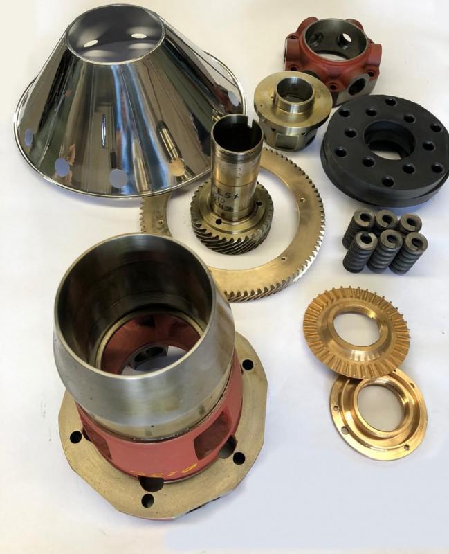 Peças de reposição para separadoras centrifugas