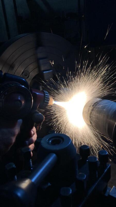 Recuperação de eixos por metalização